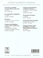Histoire et géographie économiques ; la construction européenne - 4ème de couverture - Format classique