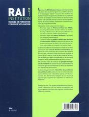 Rai Institution Version 2.0 - 4ème de couverture - Format classique