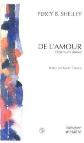De L'Amour (Essais Et Prefaces Choisis) - Couverture - Format classique