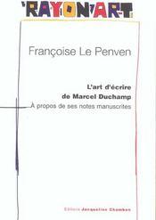 L'Art D'Ecrire De Marcel Duchamp - Intérieur - Format classique