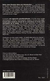Anthologie Du Chamanisme - 4ème de couverture - Format classique