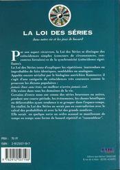 La loi des series - 4ème de couverture - Format classique