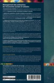 Management des entreprises de l'économie sociale et solidaire ; identités plurielles et spécificités - 4ème de couverture - Format classique