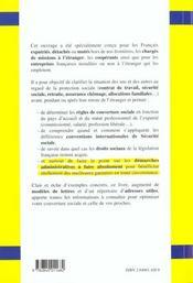 La Protection Sociale Des Expatries - 4ème de couverture - Format classique