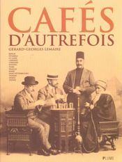 Cafés d'autrefois - Intérieur - Format classique