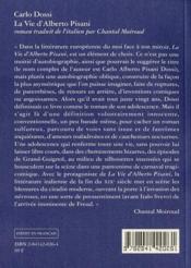 La Vie D'Alberto Pisani - 4ème de couverture - Format classique