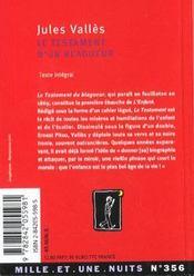 Le Testament D'Un Blagueur - 4ème de couverture - Format classique
