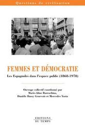 Femmes et démocratie : les Espagnoles dans l'espace public - Intérieur - Format classique