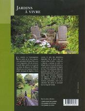 Le Jardins A Vivre - 4ème de couverture - Format classique