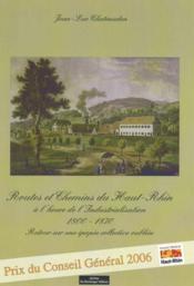 Routes et chemins du haut-rhin - Couverture - Format classique
