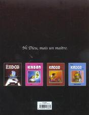 Kador t.1 - 4ème de couverture - Format classique