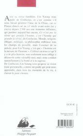 Sagesse De Confucius (La) - 4ème de couverture - Format classique