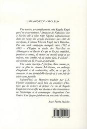 L'amazone de napoléon - 4ème de couverture - Format classique