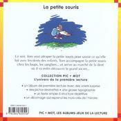 La petite souris - 4ème de couverture - Format classique
