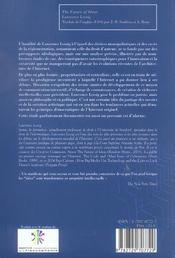 L'Avenir Des Idees ; Le Sort Des Bien Communs A L'Heure Des Reseaux Numeriques - 4ème de couverture - Format classique
