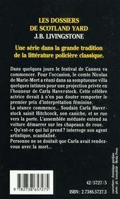 Crime Au Festival De Cannes - 4ème de couverture - Format classique