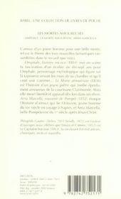 Les Mortes Amoureuses (Ne) Babel 242 - 4ème de couverture - Format classique