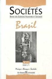 Revue Societes N.70 - Couverture - Format classique