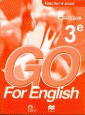 Go For English 3e / Livre Du Professeur (Senegal) - Couverture - Format classique