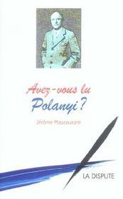 Avez-Vous Lu Polanyi ? - Intérieur - Format classique