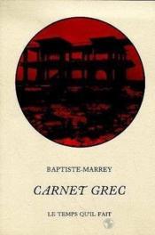 Carnet grec - Couverture - Format classique