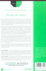 Physique des solitons - 4ème de couverture - Format classique
