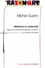 Nihilisme Et Modernite - Couverture - Format classique
