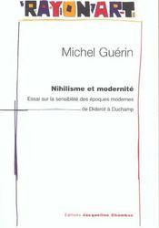 Nihilisme Et Modernite - Intérieur - Format classique