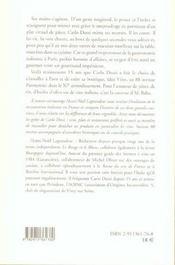 Carlo Dossi...(Vente Ferme) - 4ème de couverture - Format classique