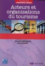 Acteurs et organisations du tourisme - Couverture - Format classique