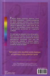 Le régime acido-basique - 4ème de couverture - Format classique