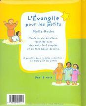 L'Evangile Pour Les Petits - 4ème de couverture - Format classique