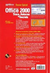Doss.spe trucs office 2000 - 4ème de couverture - Format classique