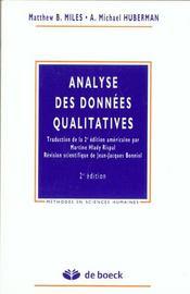 Analyse Des Donnees Qualitatives (L') - Intérieur - Format classique