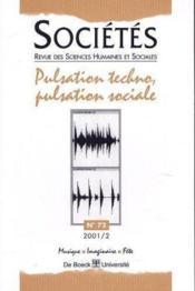 Pulsation Techno, Pulsation Sociale - No 72 Societes 01/2 - Couverture - Format classique