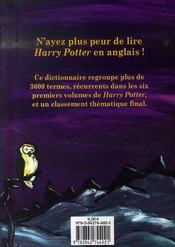 Dictionnaire harry potter ; anglais-français - 4ème de couverture - Format classique
