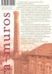 Kemp (Le) - Une Enfance Intra-Muros - 4ème de couverture - Format classique