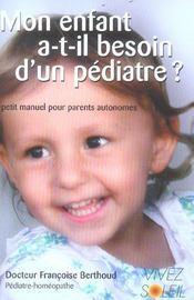 Mon enfant a-t-il besoin d'un pediatre ? - Intérieur - Format classique