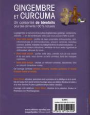 Gingembre et curcuma ; un concentré de bienfaits pour votre santé et votre beauté - 4ème de couverture - Format classique