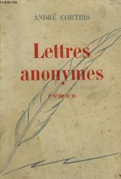 Lettres Anonymes. - Couverture - Format classique