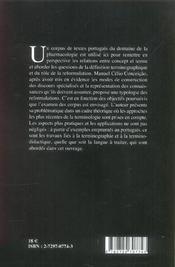 Concepts, Termes Et Reformulations - 4ème de couverture - Format classique