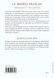 Le Modele Francais - 4ème de couverture - Format classique