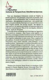 L'Algerie Et Sa Jeunesse ; Marginalisations Sociales Et Desarroi Culturel - 4ème de couverture - Format classique
