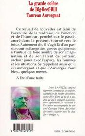 La Grande Colere De Big-Beef-Bill Taureau Auvergnat - 4ème de couverture - Format classique