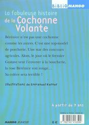 La Fabuleuse Histoire De La Cochonne Volante - 4ème de couverture - Format classique