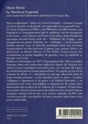 Le tambour legrand - 4ème de couverture - Format classique