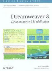 Dreamweaver 8 De La Maquette A La Realisation - Intérieur - Format classique