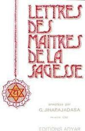 Lettres des maitres de sagesse t.1 - Couverture - Format classique