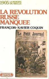 Revolution russe manquee - Couverture - Format classique