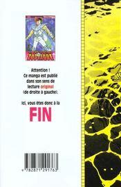 Les chevaliers du zodiaque t.10 - 4ème de couverture - Format classique